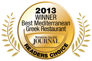2013 Best Greek Restaurant Reader's Choice Award Winner