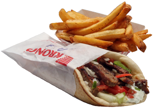 Grecian Corner Greek Gyro Sandwich with Fries